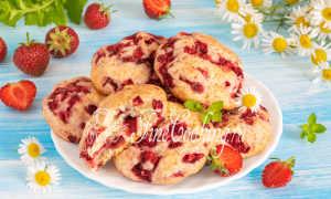 Печенье клубника