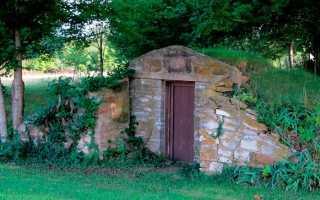 Как построить наземный погреб с обваловкой