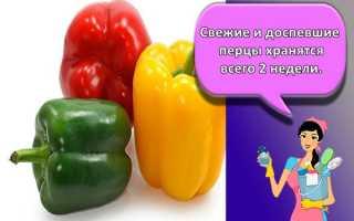 Как увеличить срок хранения болгарского перца