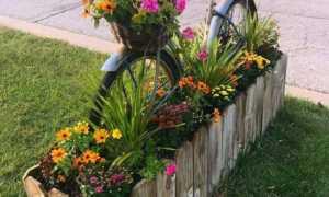 Клумба из велосипеда: своими руками, инструкция, как покрасить велосипед, чем обработать