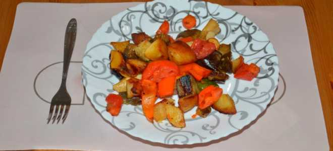 Овощи в духовке запеченные рецепты