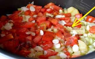 Время приготовления овощей таблица