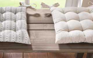 Сидушки на стулья своими руками: как сшить подушки на табуретки своими руками, как сделать круглые подстилки для стульев, мастер класс, фото и выкройки